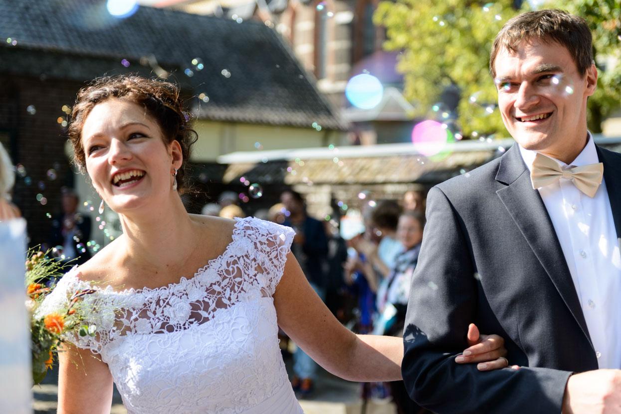 Just married bruiloft Eindhoven Achelse Kluis