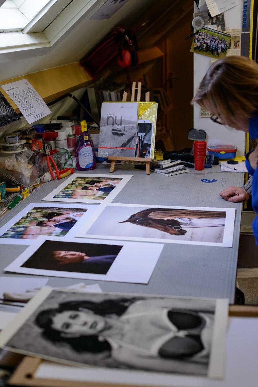 Bekijken van de fine-art prints