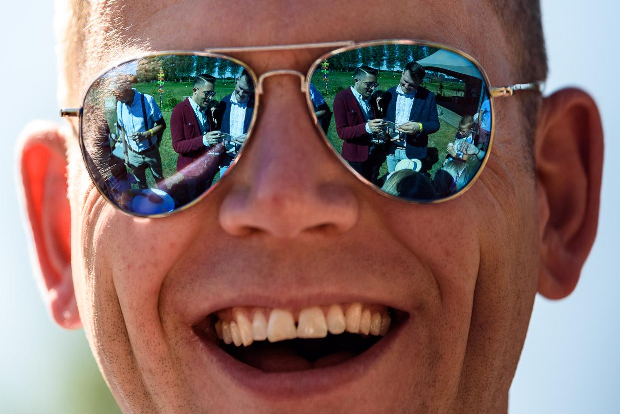 Reflectie zonnebril