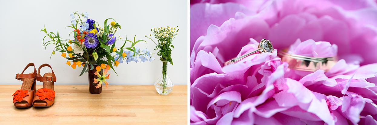 Biologische bloemen bruiloft