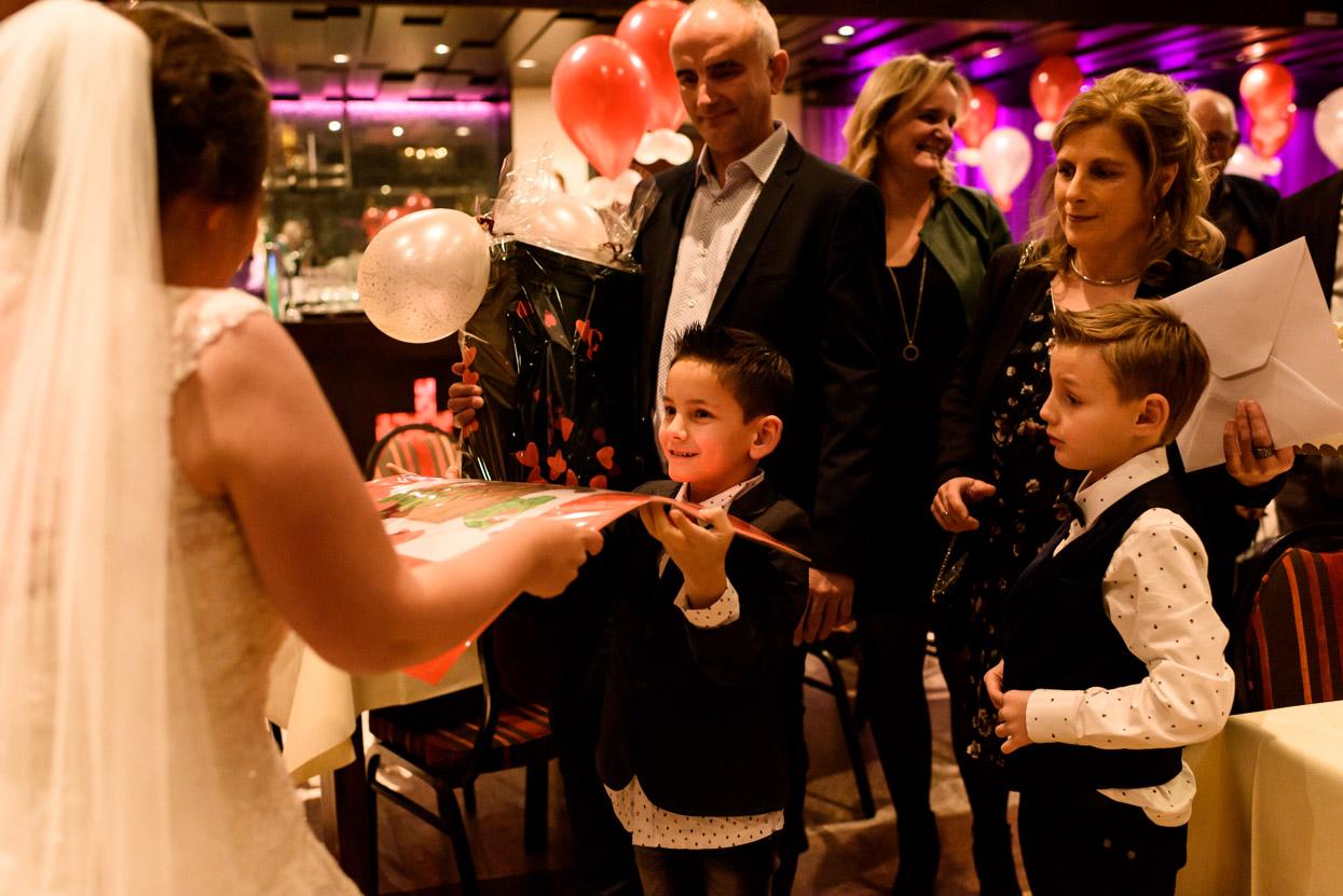 Felicitaties voor het bruidspaar