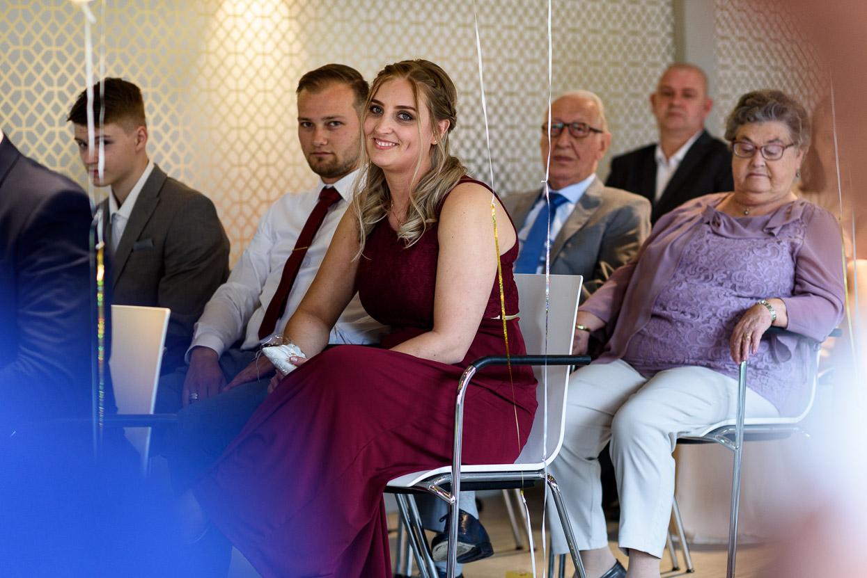 familie tijdens de ceremonie