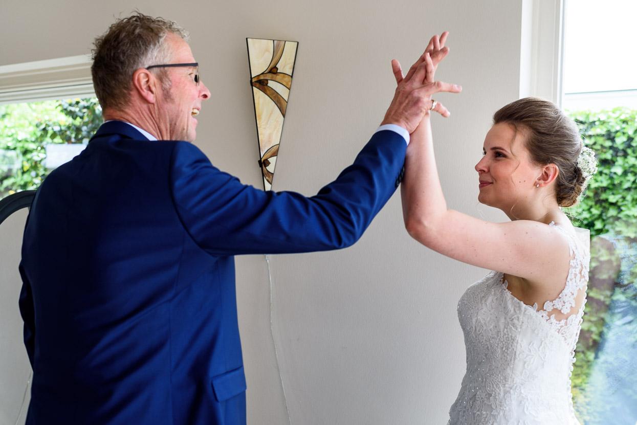 voorbereidingen van de bruid