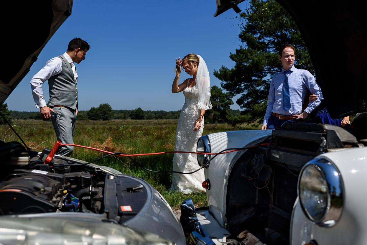 eerste hulp bij accupech op je bruiloft