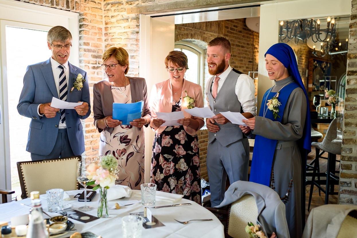 speeches tijdens het diner bij de Viersprong
