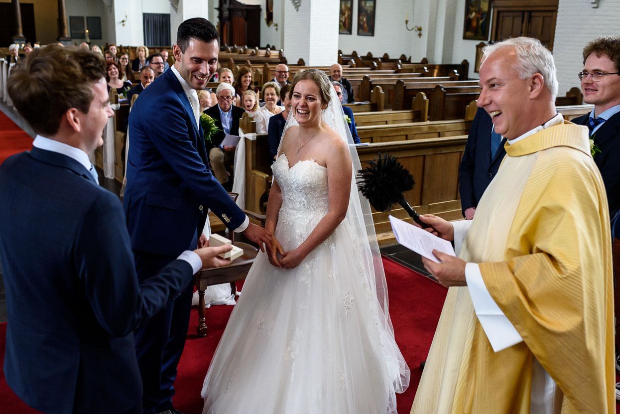 zegening van de trouwringen