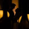 Silhouet bruidspaar