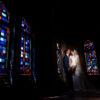 glas-in-loodramen domusdela bruidspaar