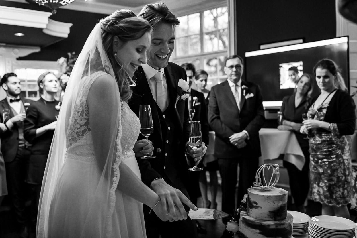 taart aansnijden trouwen bij kasteel maurick in vught